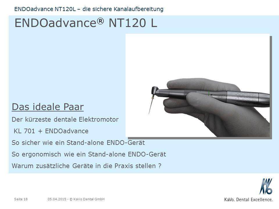 ENDOadvance® NT120 L Das ideale Paar Der kürzeste dentale Elektromotor