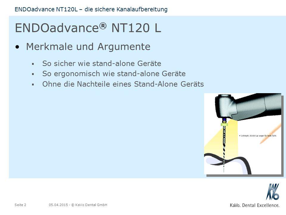 ENDOadvance® NT120 L Merkmale und Argumente