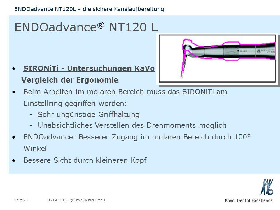 ENDOadvance® NT120 L SIRONiTi - Untersuchungen KaVo