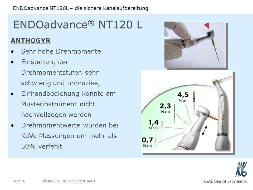 ENDOadvance® NT120 L ANTHOGYR Sehr hohe Drehmomente
