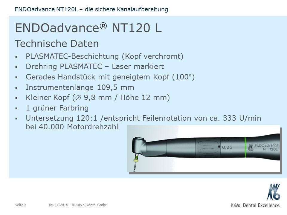 ENDOadvance® NT120 L Technische Daten