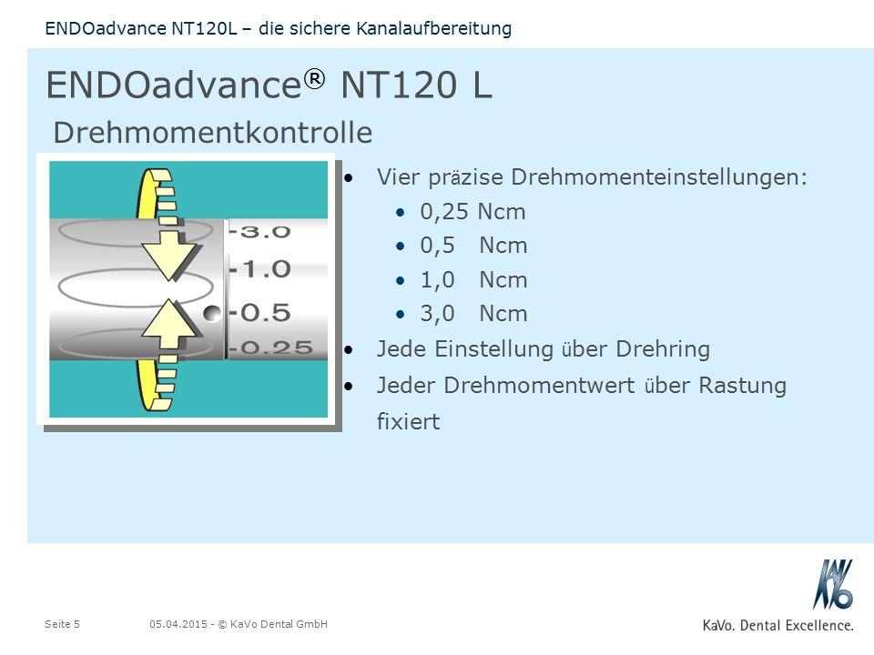 ENDOadvance® NT120 L Drehmomentkontrolle