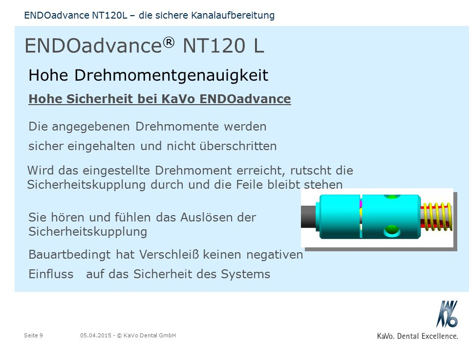 ENDOadvance® NT120 L Hohe Drehmomentgenauigkeit