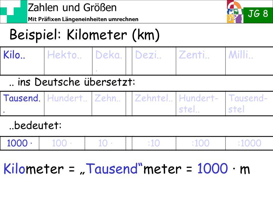 Beispiel: Kilometer (km)