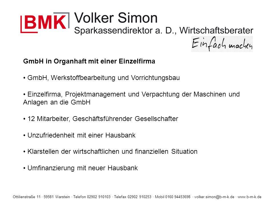 GmbH in Organhaft mit einer Einzelfirma