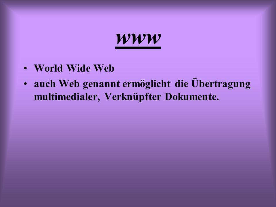 www World Wide Web.