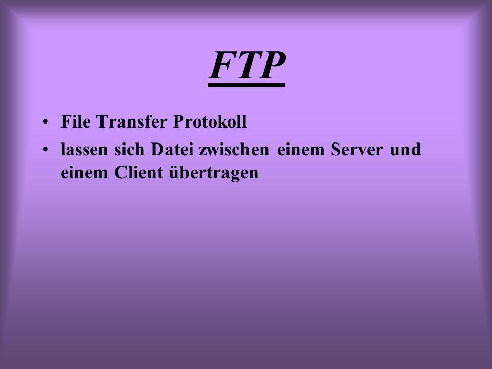 FTP File Transfer Protokoll