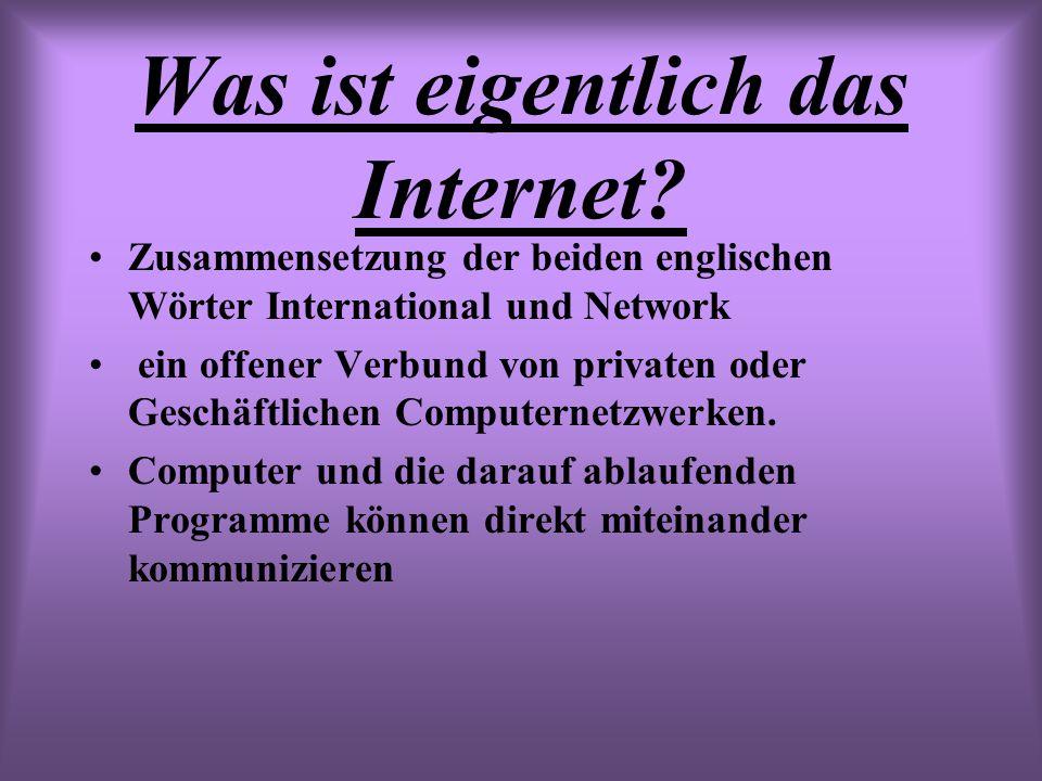 Was ist eigentlich das Internet