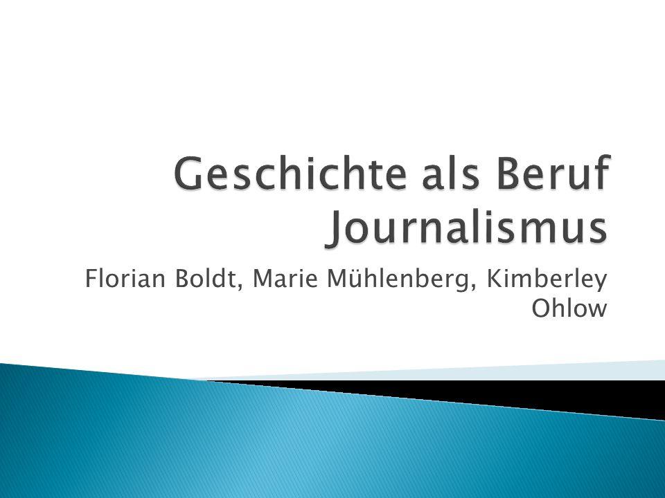 Geschichte als Beruf Journalismus
