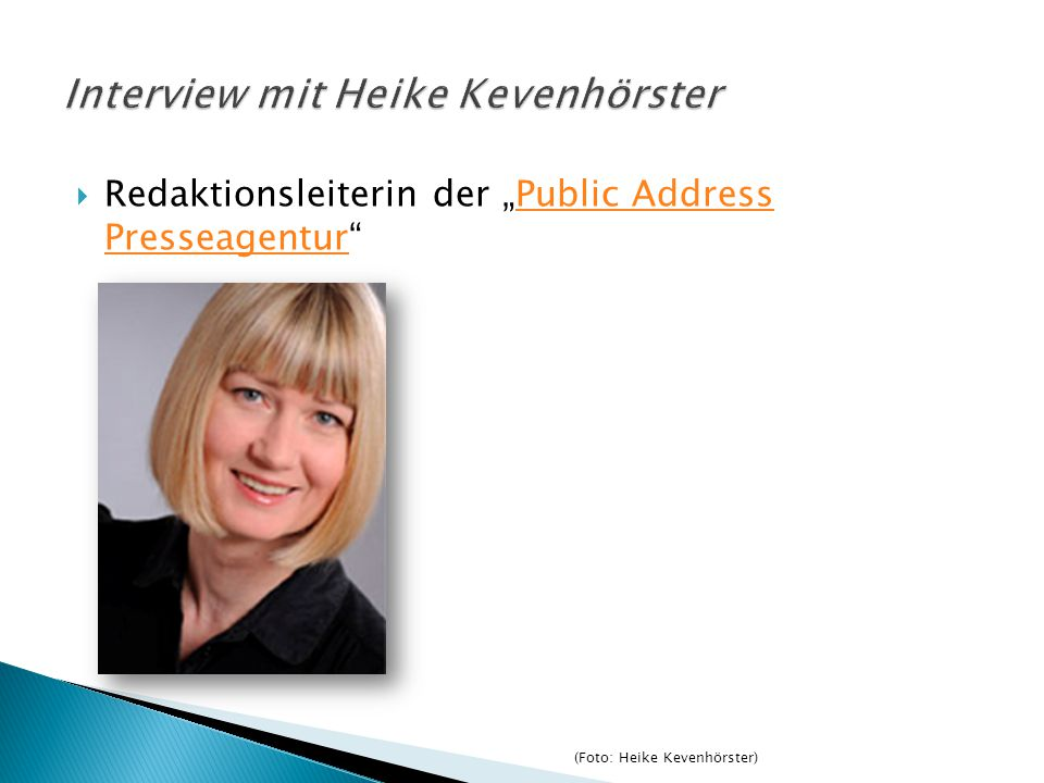 Interview mit Heike Kevenhörster