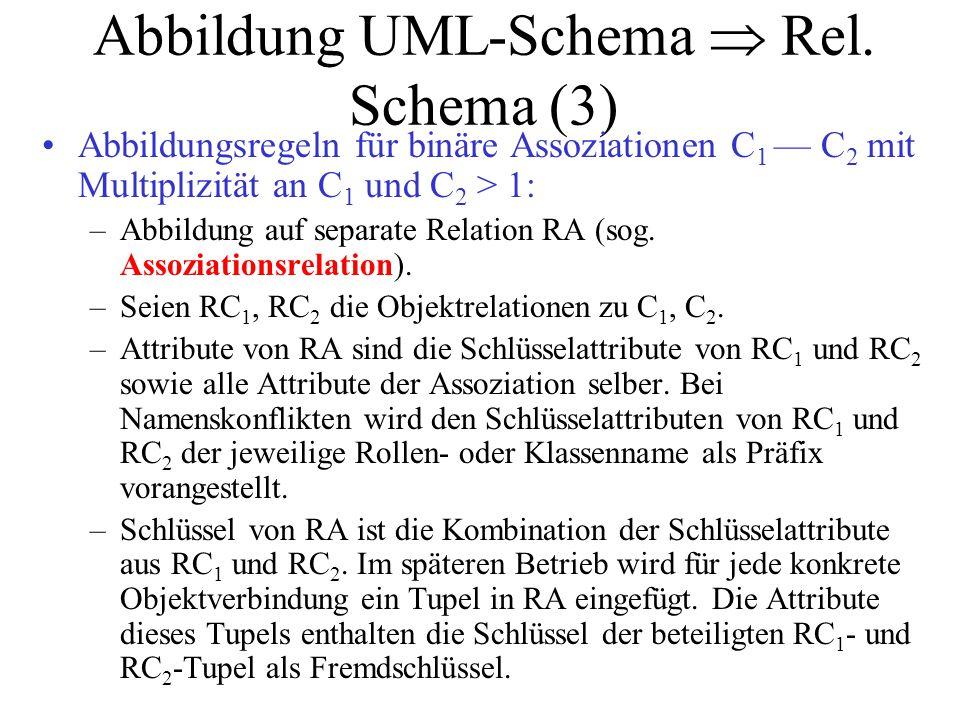 Abbildung UML-Schema  Rel. Schema (3)