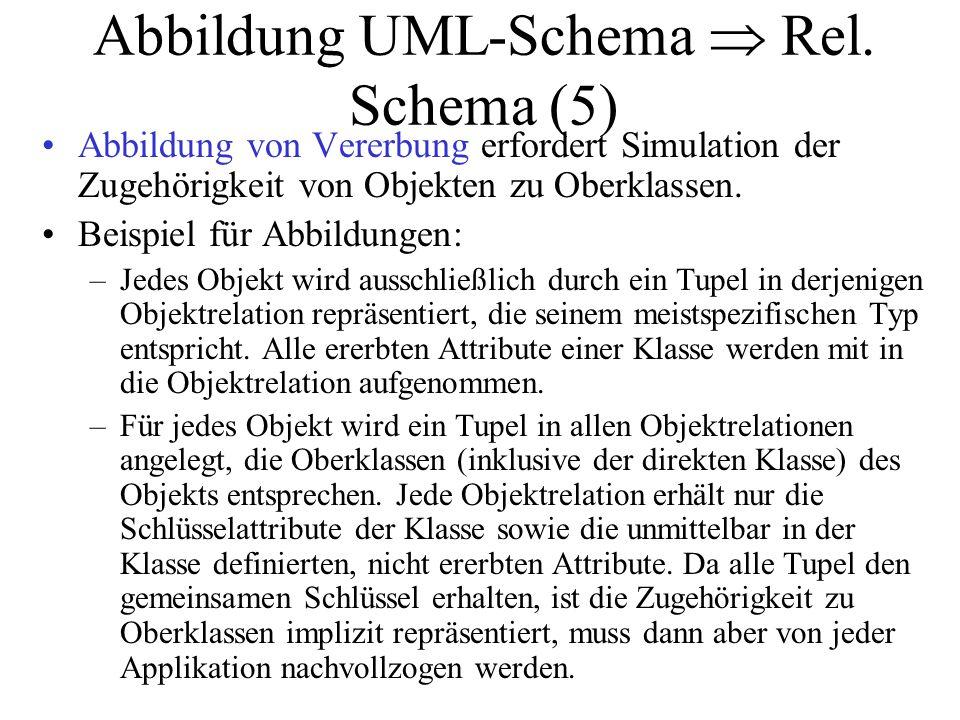Abbildung UML-Schema  Rel. Schema (5)