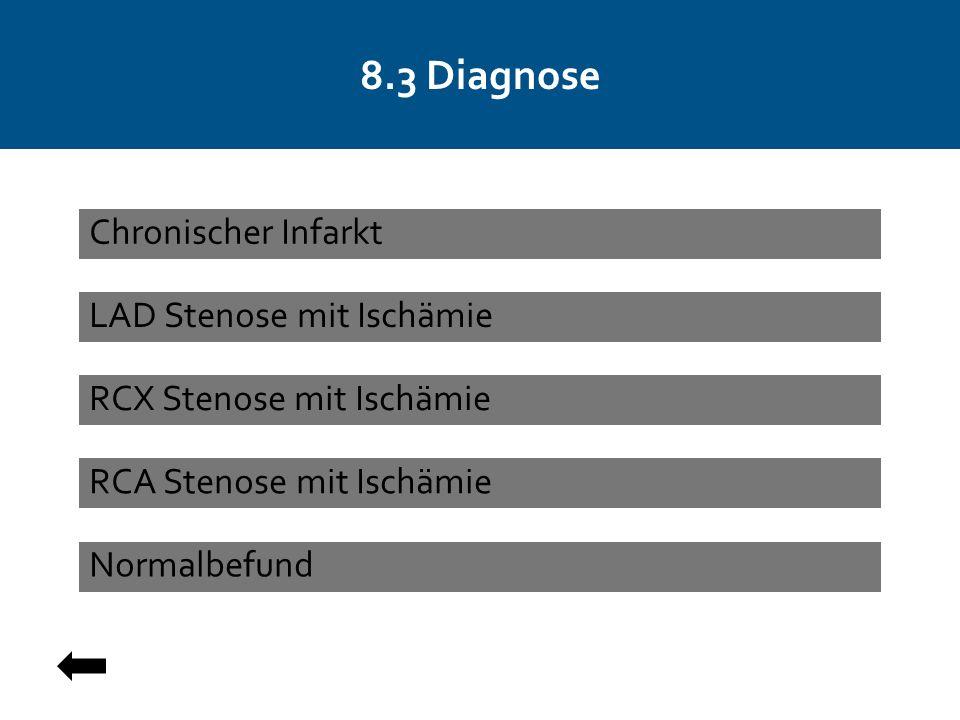 8.3 Diagnose Chronischer Infarkt LAD Stenose mit Ischämie