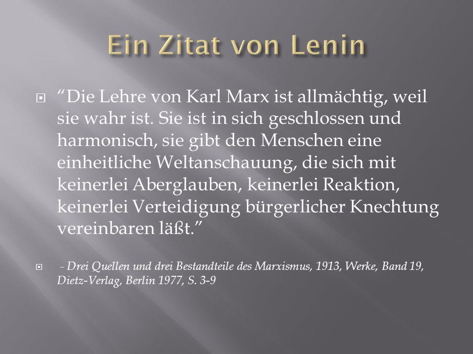 Ein Zitat von Lenin