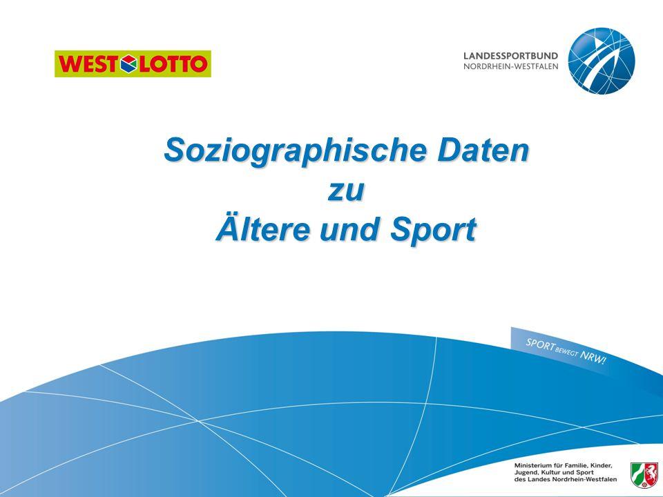Soziographische Daten zu Ältere und Sport