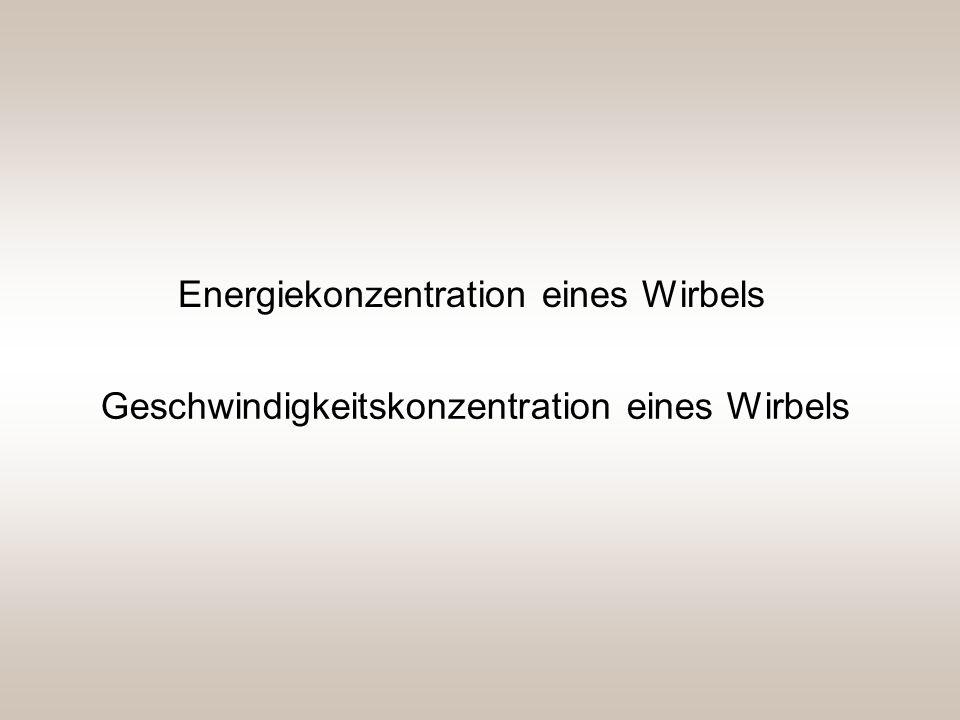 Energiekonzentration eines Wirbels