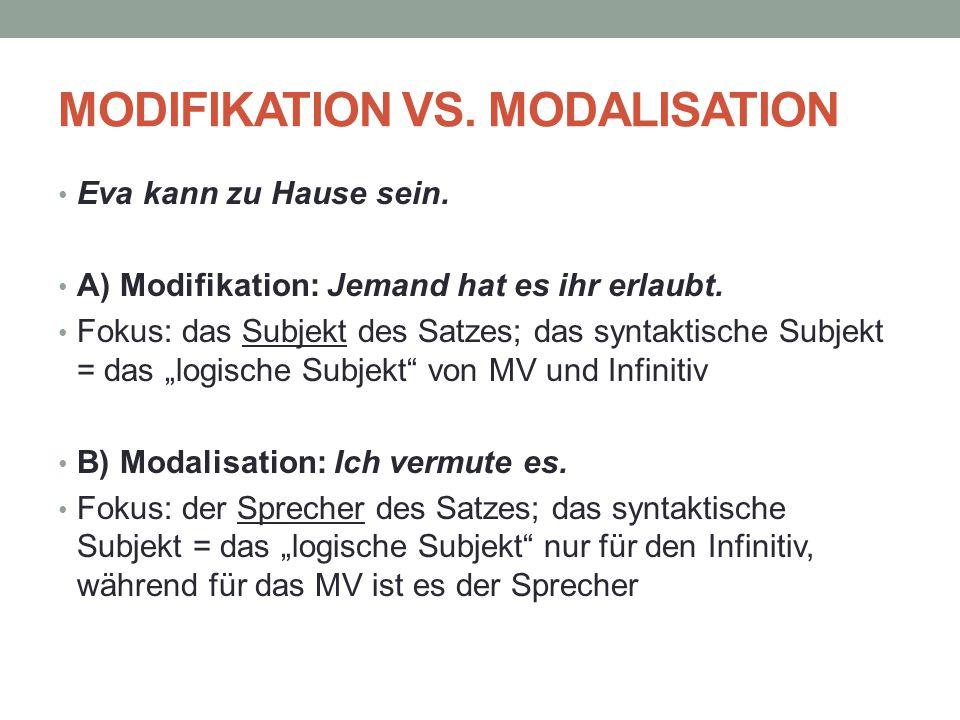 Modifikation vs. Modalisation