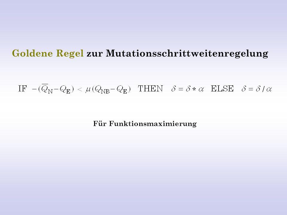 Goldene Regel zur Mutationsschrittweitenregelung