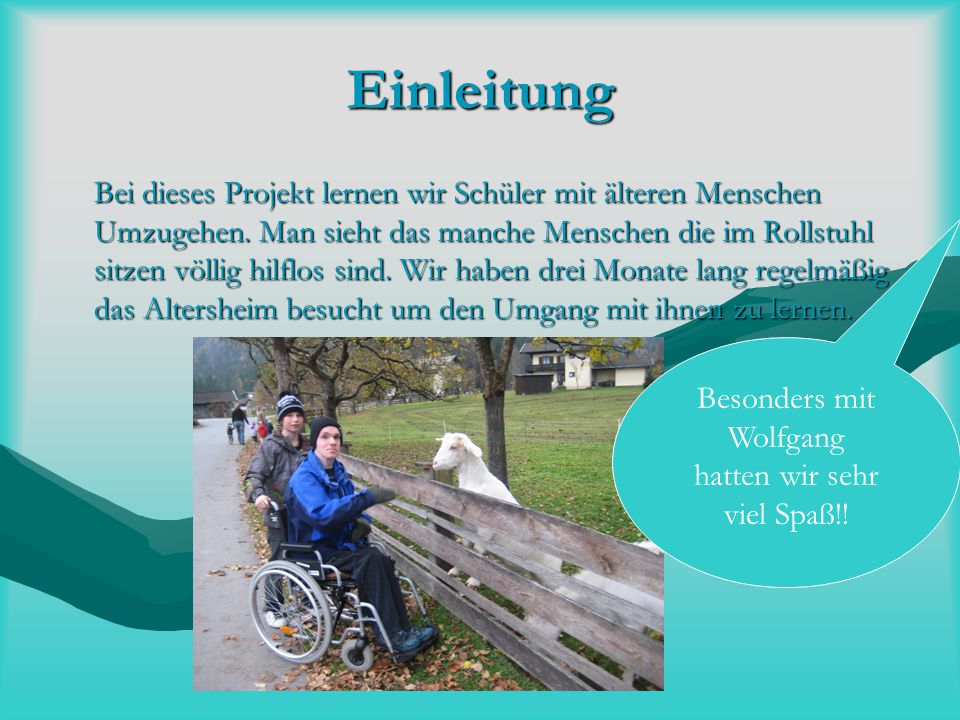 Besonders mit Wolfgang