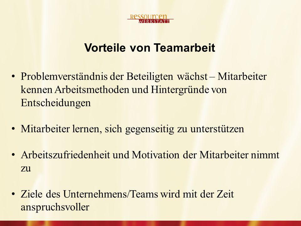 Vorteile von Teamarbeit