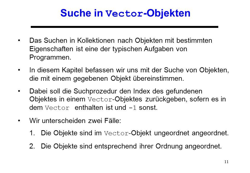 Suche in Vector-Objekten