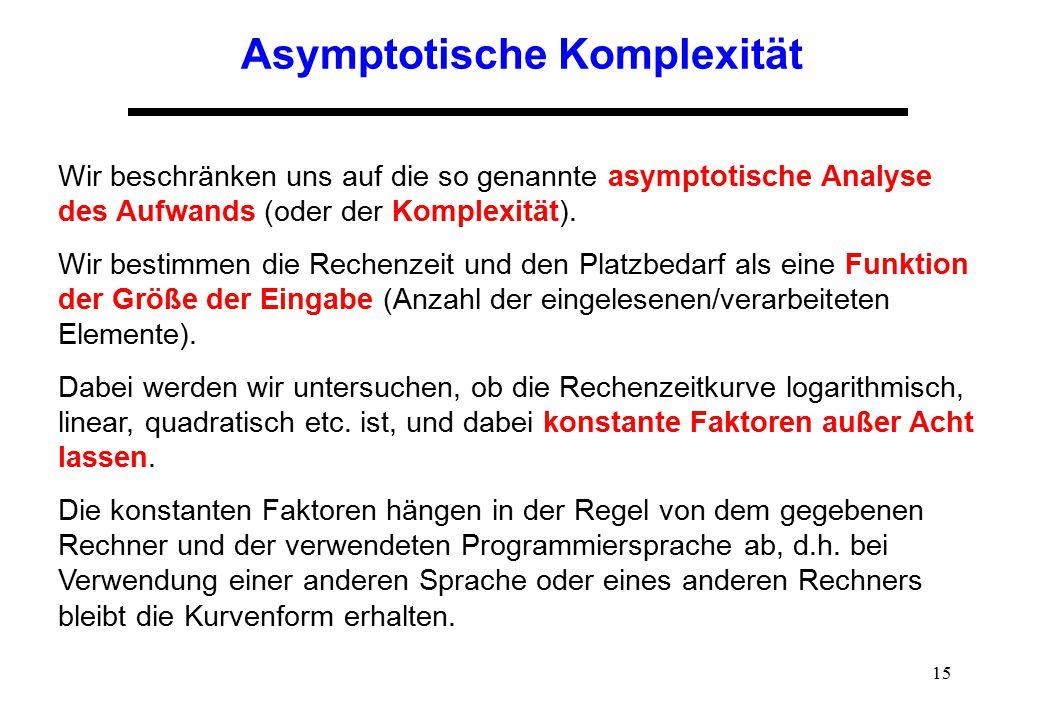 Asymptotische Komplexität