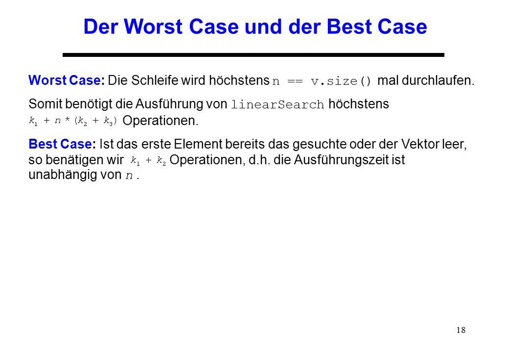 Der Worst Case und der Best Case