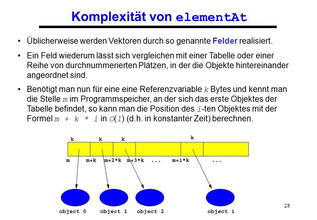 Komplexität von elementAt