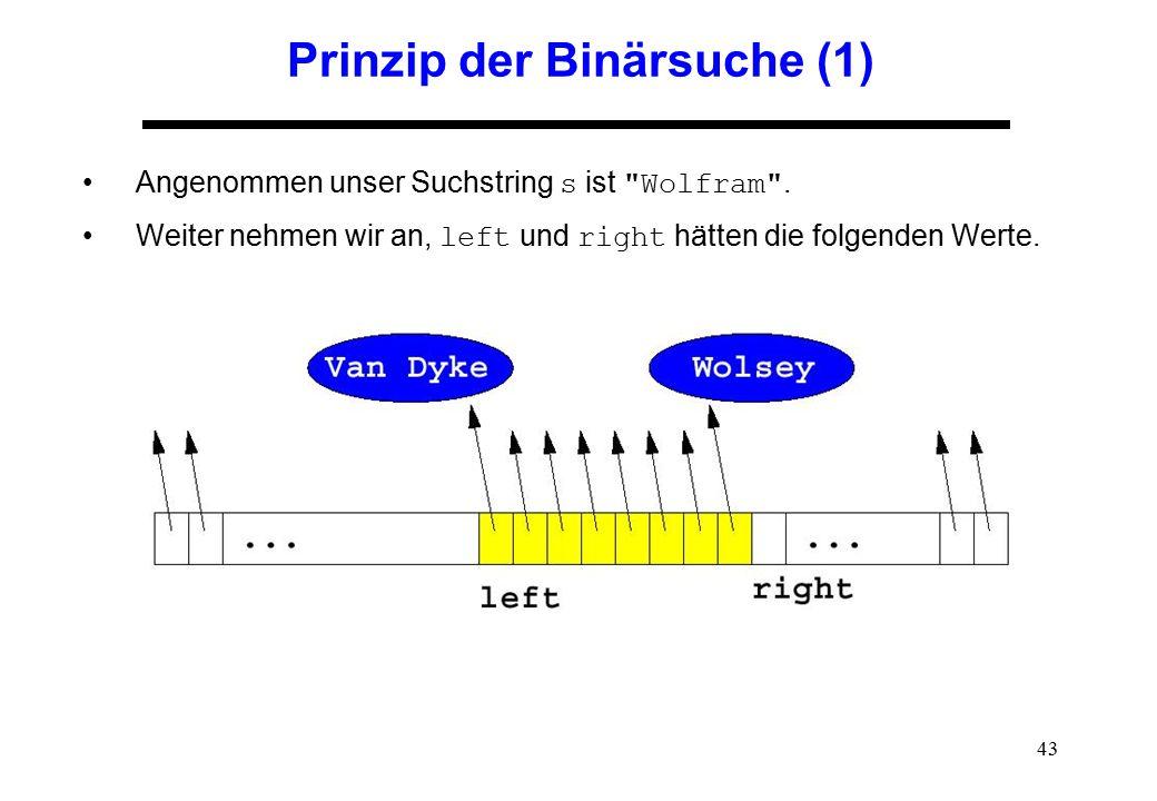 Prinzip der Binärsuche (1)