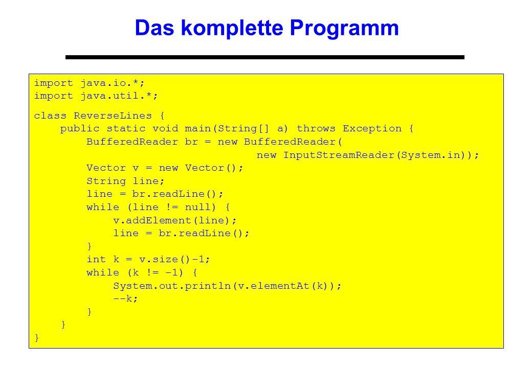 Das komplette Programm