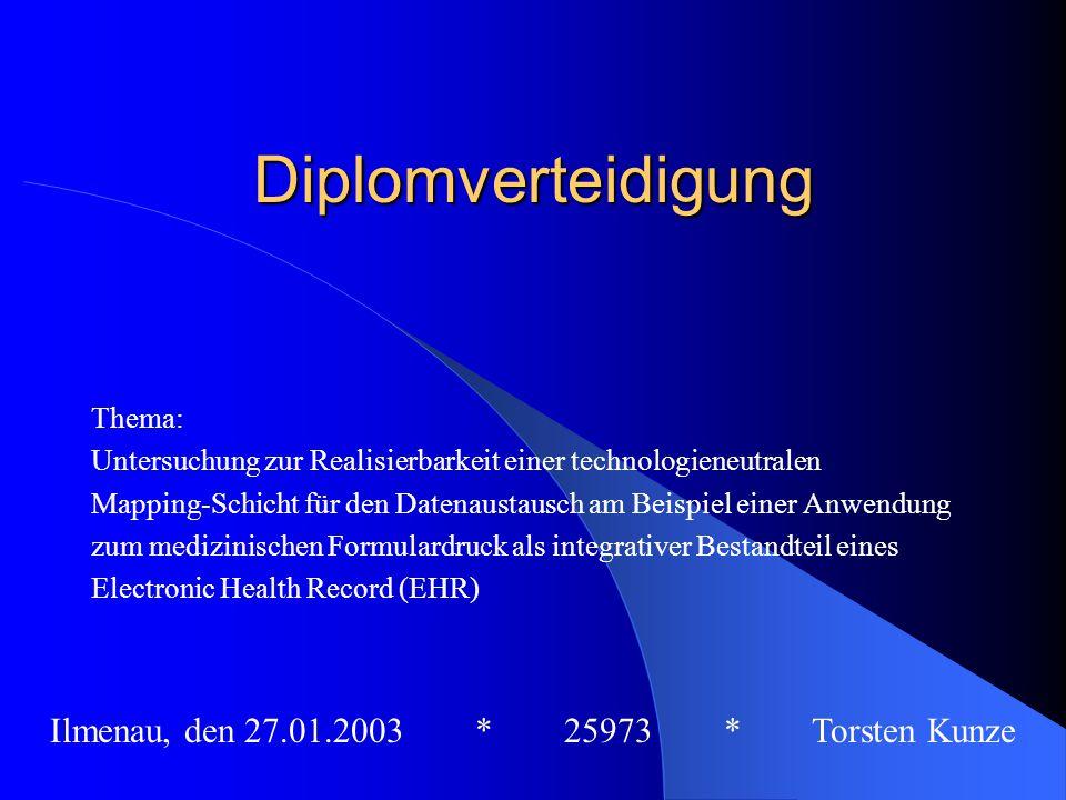 Ilmenau, den 27.01.2003 * 25973 * Torsten Kunze