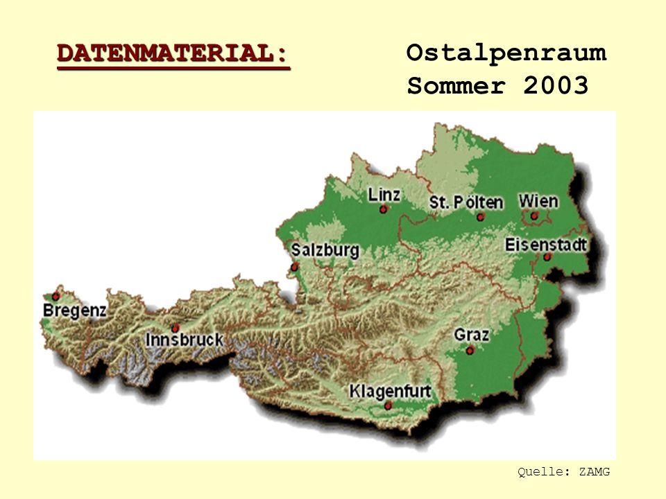 DATENMATERIAL: Ostalpenraum Sommer 2003