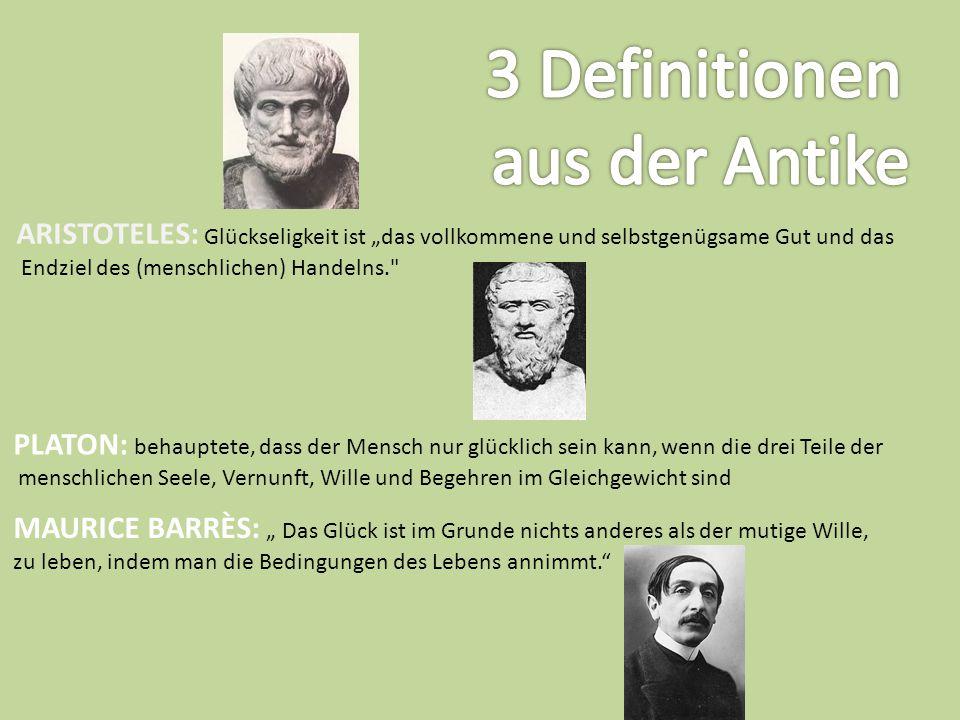 3 Definitionen aus der Antike