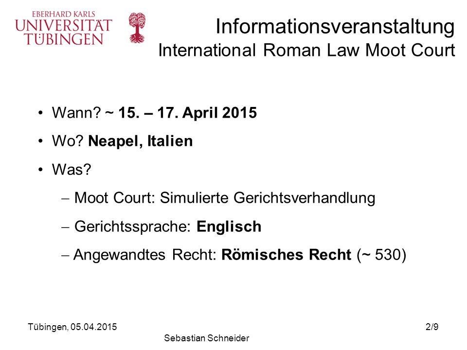 Moot Court: Simulierte Gerichtsverhandlung Gerichtssprache: Englisch