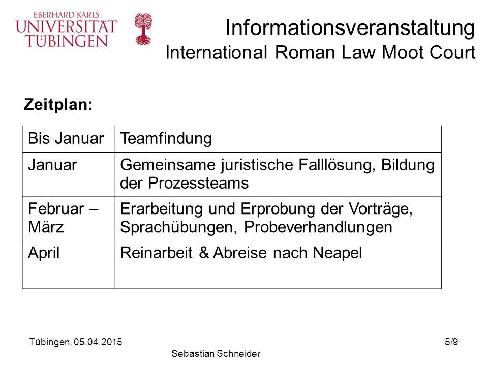 Gemeinsame juristische Falllösung, Bildung der Prozessteams
