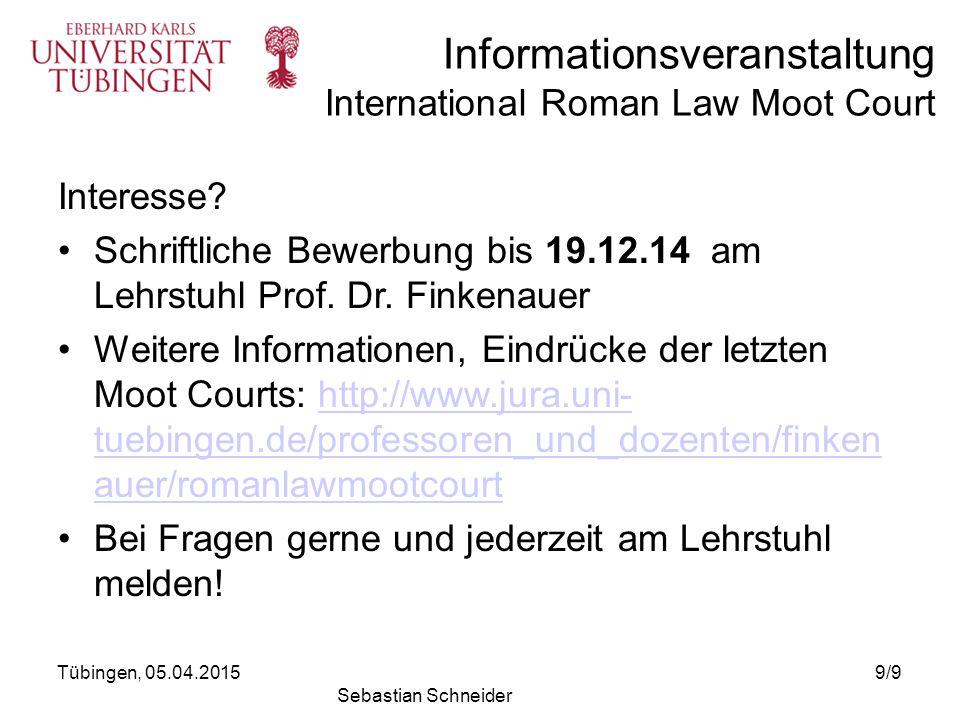 Schriftliche Bewerbung bis 19.12.14 am Lehrstuhl Prof. Dr. Finkenauer
