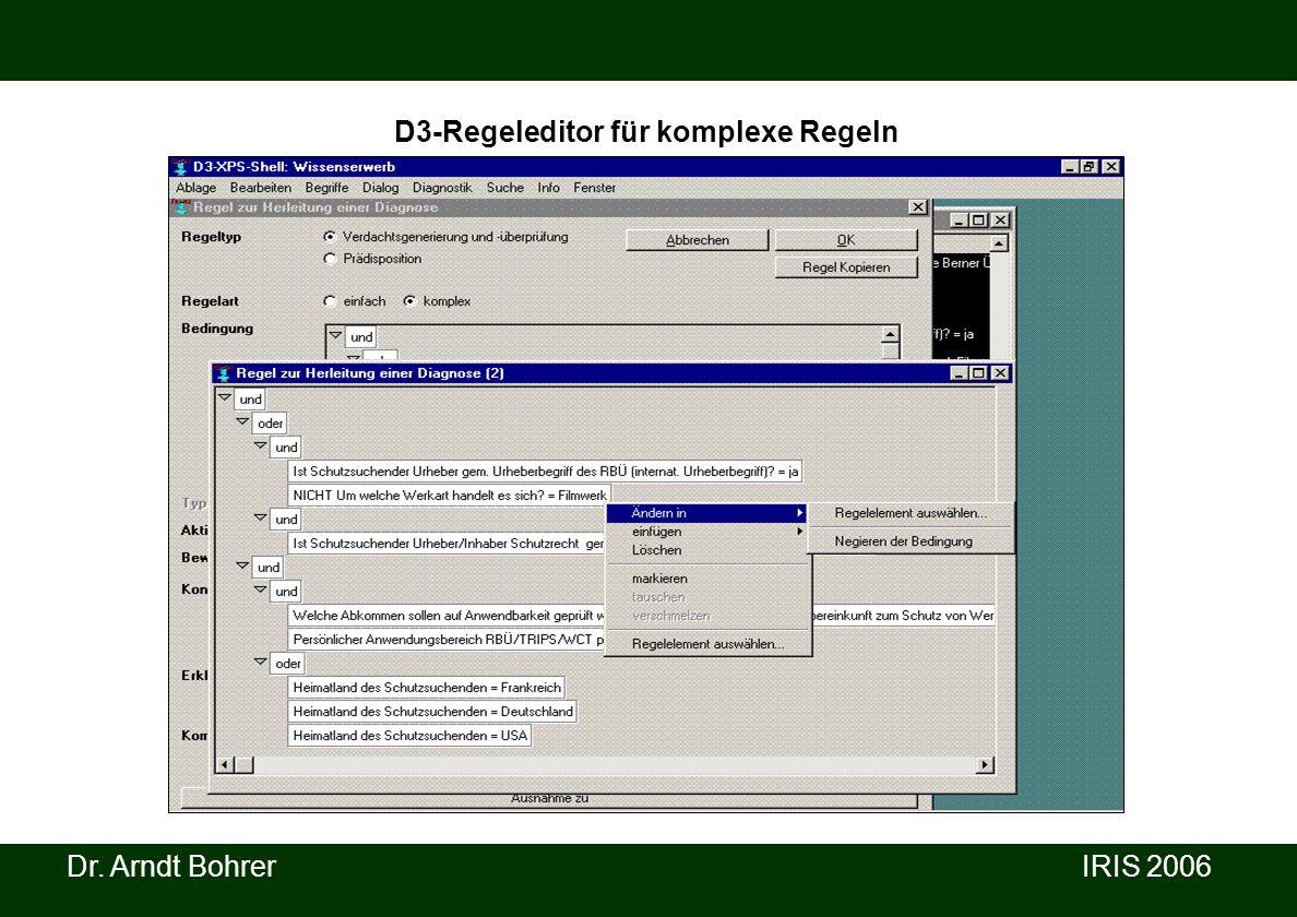 D3-Regeleditor für komplexe Regeln