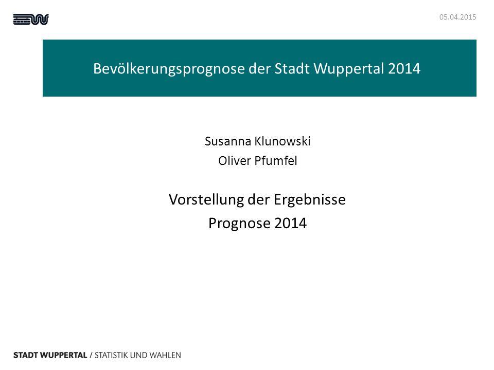 Bevölkerungsprognose der Stadt Wuppertal 2014