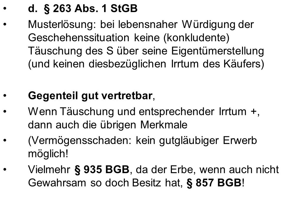d. § 263 Abs. 1 StGB