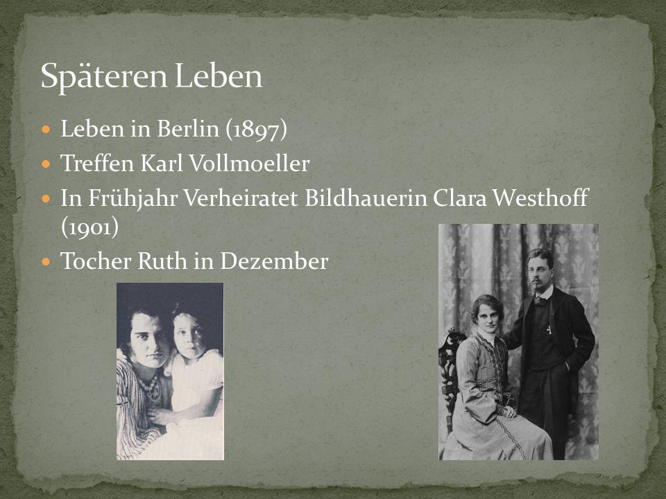 Späteren Leben Leben in Berlin (1897) Treffen Karl Vollmoeller