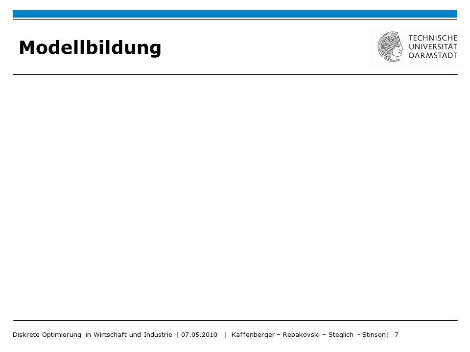 Modellbildung Diskrete Optimierung in Wirtschaft und Industrie | 07.05.2010 | Kaffenberger – Rebakovski – Steglich - Stinson| 7.