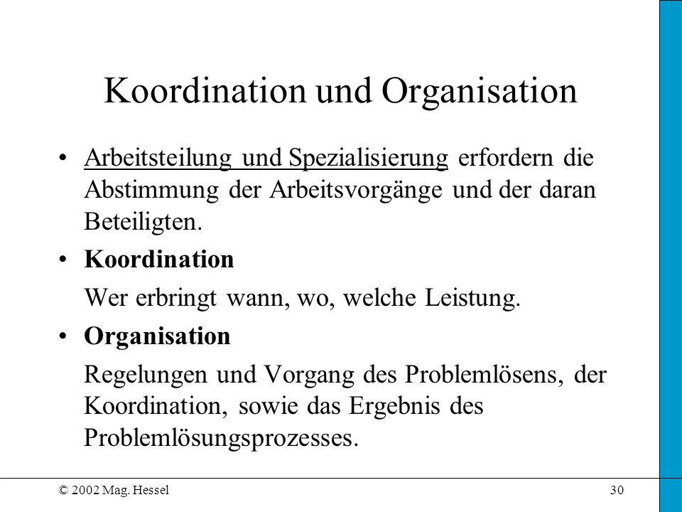 Koordination und Organisation