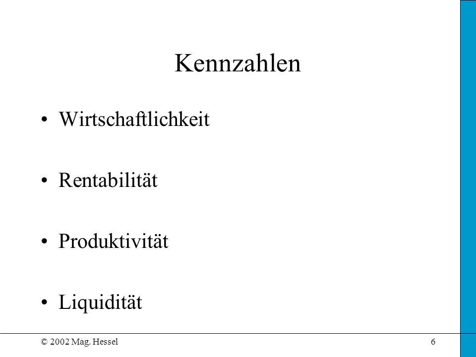Kennzahlen Wirtschaftlichkeit Rentabilität Produktivität Liquidität