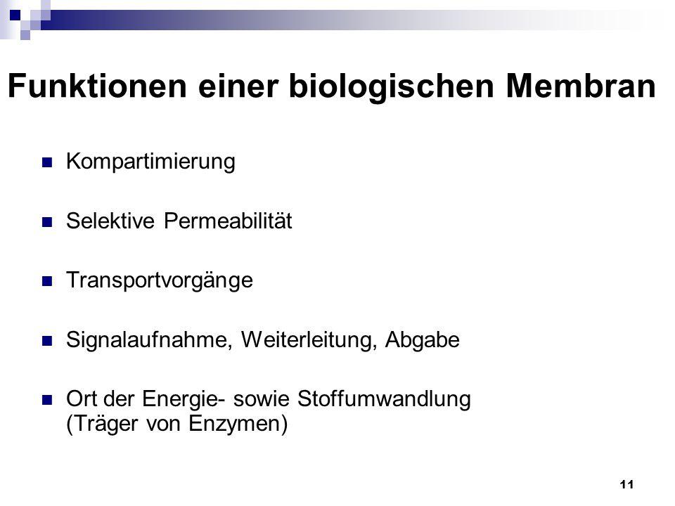 Funktionen einer biologischen Membran