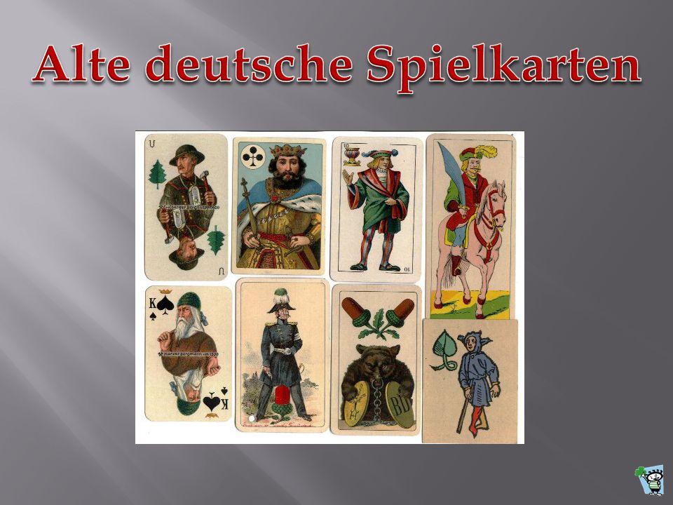 Alte deutsche Spielkarten