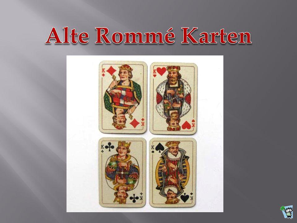 Alte Rommé Karten