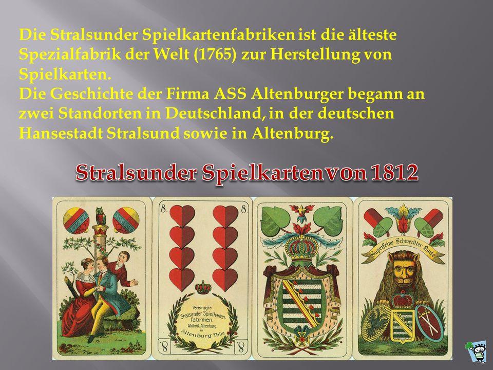 Stralsunder Spielkarten von 1812