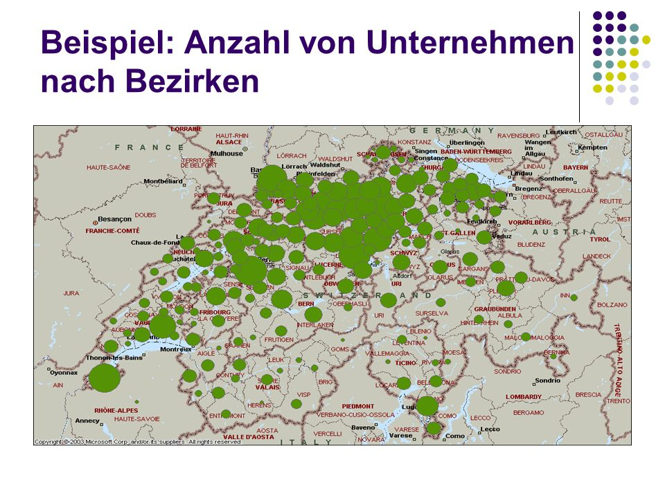 Beispiel: Anzahl von Unternehmen nach Bezirken