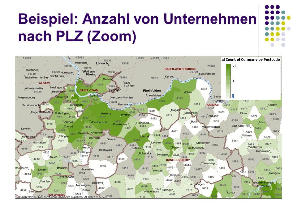 Beispiel: Anzahl von Unternehmen nach PLZ (Zoom)