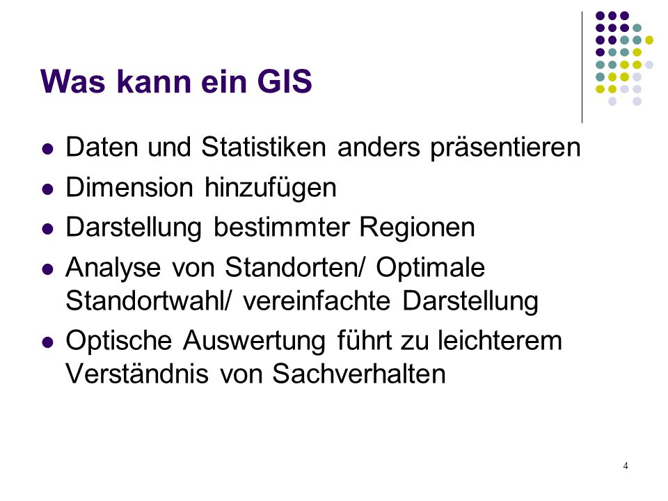 Was kann ein GIS Daten und Statistiken anders präsentieren
